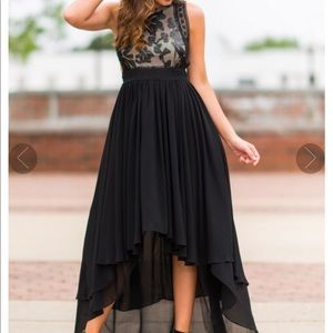 NWOT hi low lace and tulle dress Large